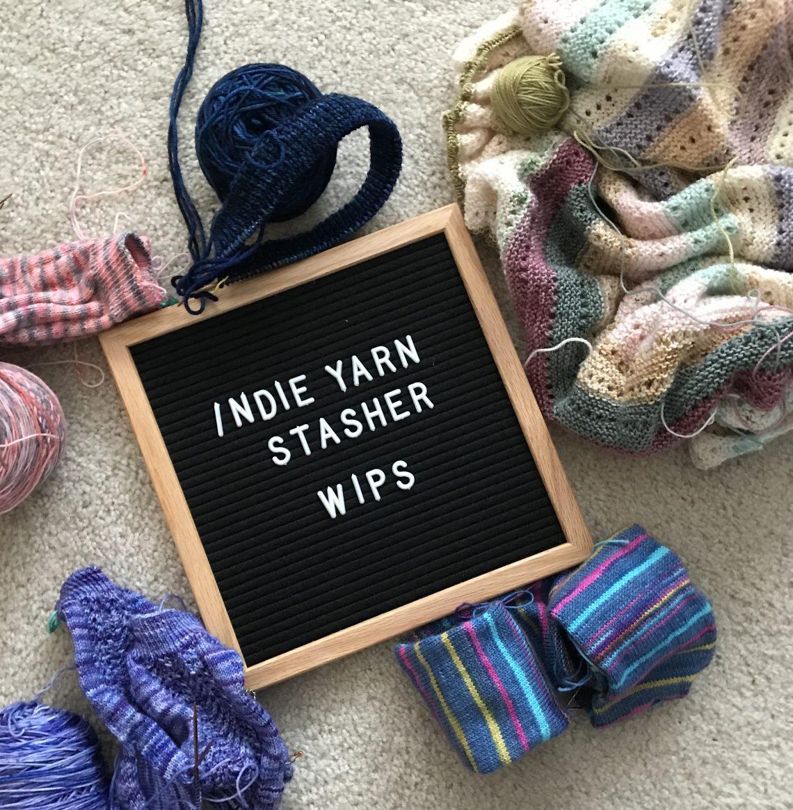 WIPs knitting